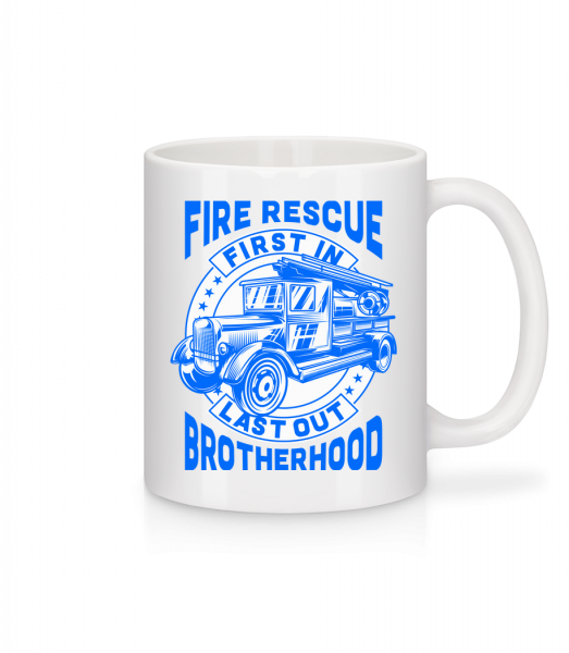 Fire Rescue First In Last - Mug - White - Vorn