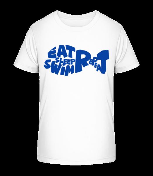 Eat Sleep Swim - Kid's Premium Bio T-Shirt - White - Vorn