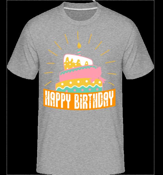 Happy Birthday Cake - Shirtinator Men's T-Shirt - Heather Grey - Vorn