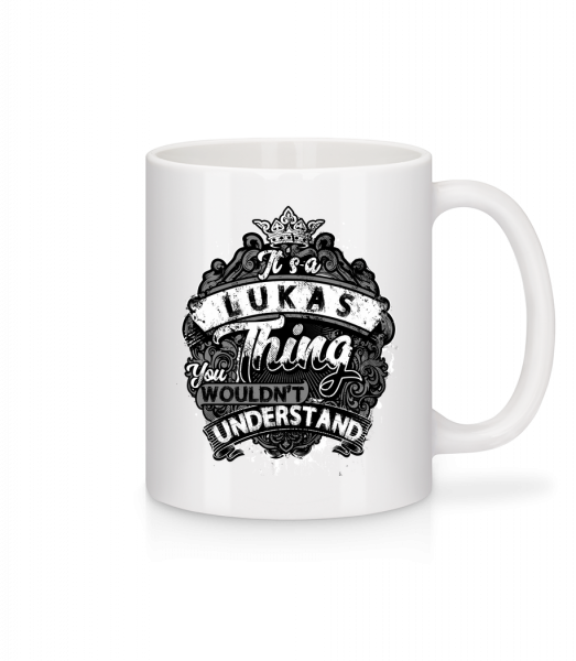 It's A Lukas Thing - Mug - White - Vorn