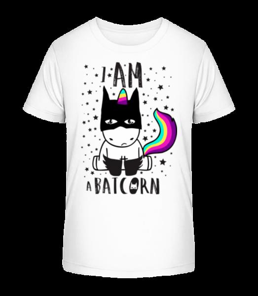 I Am A Batcorn - Kid's Premium Bio T-Shirt - White - Vorn