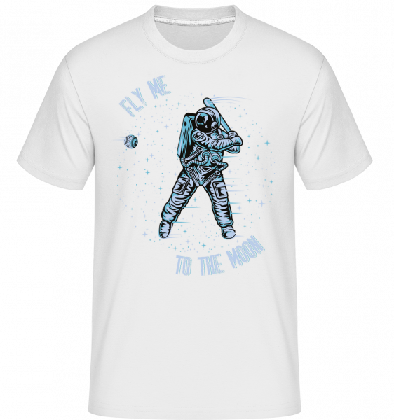 Fly Me To The Moon -  Shirtinator Men's T-Shirt - White - Vorn