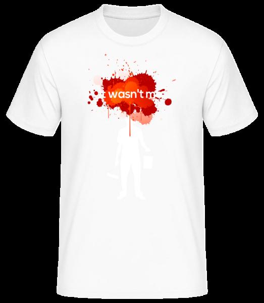 It Wasn't Me - Basic T-shirt - White - Vorn