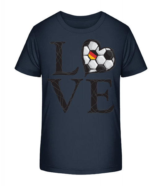 Football Love Germany - Kid's Premium Bio T-Shirt - Navy - Vorn