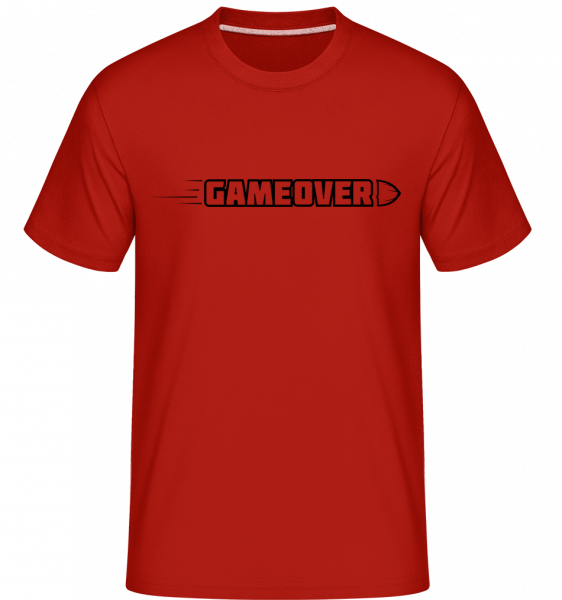 Game Over Simple Sign -  Shirtinator Men's T-Shirt - Red - Vorn