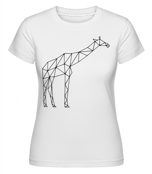 Polygon Giraffe - Shirtinator Women's T-Shirt - White - Vorn