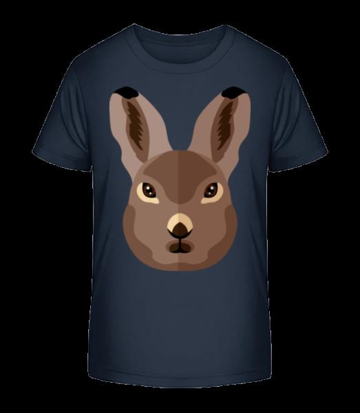 Bunny Comic Shadow - Kid's Premium Bio T-Shirt - Navy - Vorn