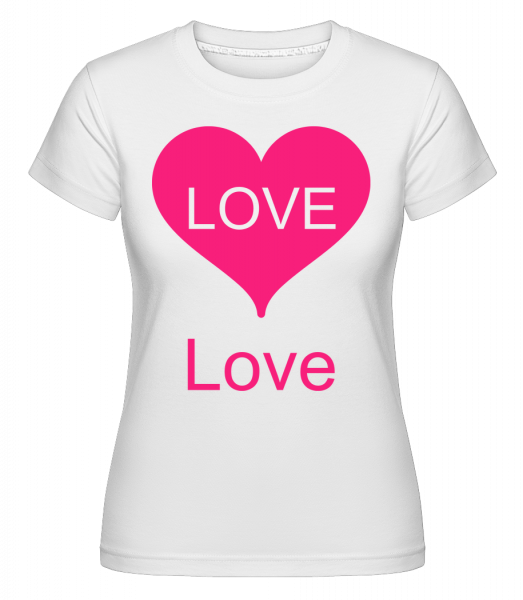Love Heart - Shirtinator Women's T-Shirt - White - Vorn