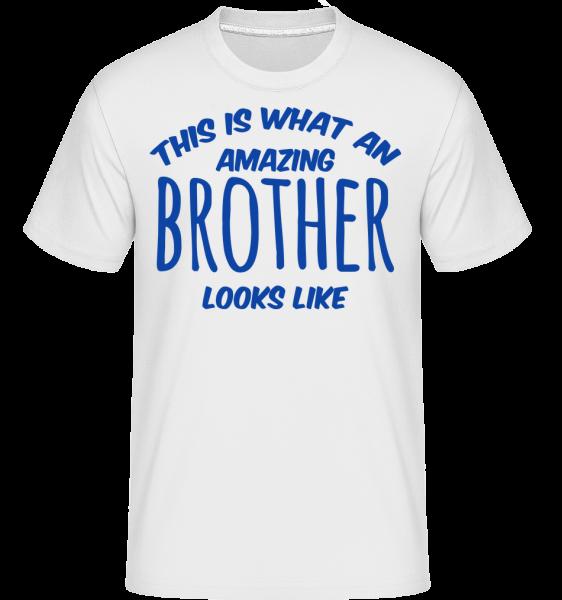 Amazing Brother Looks Like - Shirtinator Men's T-Shirt - White - Vorn