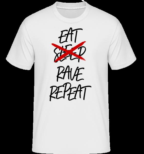 Eat Rave Repeat -  Shirtinator Men's T-Shirt - White - Vorn