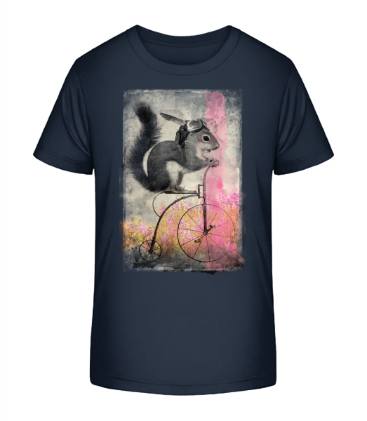 Squirrel Bike - Kid's Premium Bio T-Shirt - Navy - Vorn