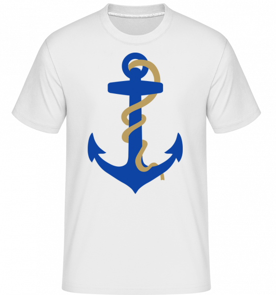 Anchor With Rope - Shirtinator Men's T-Shirt - White - Vorn