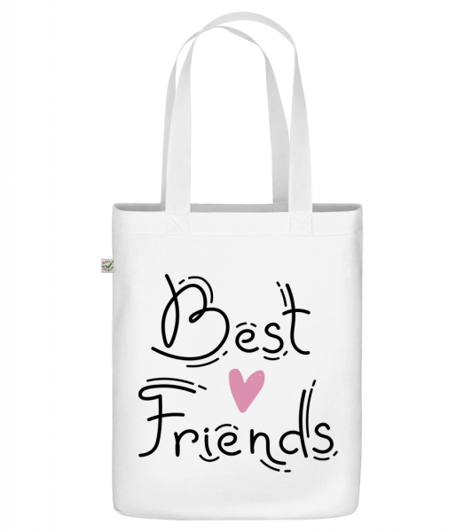 """Best Friends - Organic """"Earth Positive"""" tote bag - White - Vorn"""