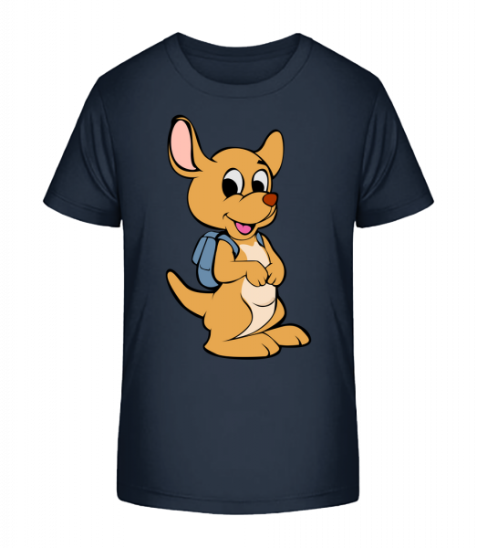 Cute Animal With Bag - Kid's Premium Bio T-Shirt - Navy - Vorn