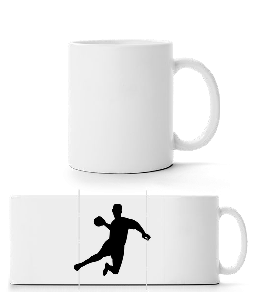 Handball - Panorama Mug - White - Vorn