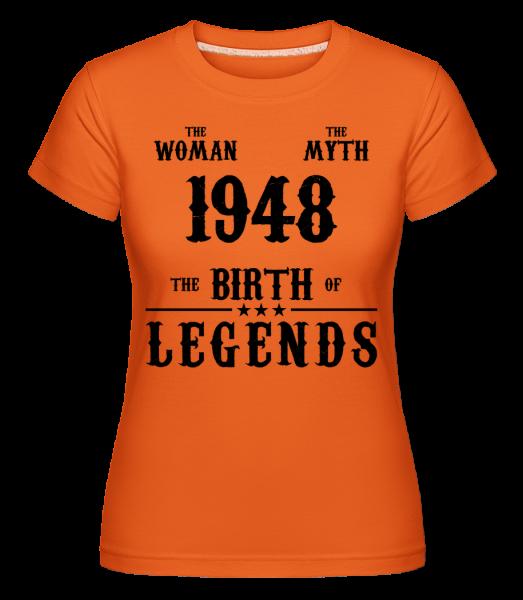 The Myth The Woman 1948 -  Shirtinator Women's T-Shirt - Orange - Vorn