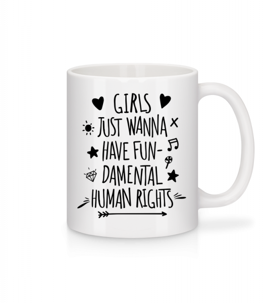 Damental Human Rights - Mug - White - Vorn