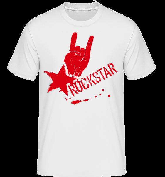 Rockstar Symbol -  Shirtinator Men's T-Shirt - White - Vorn