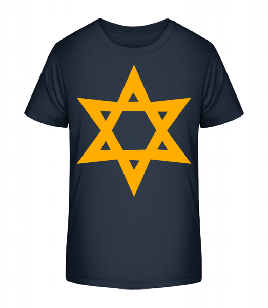 Star Icon Yellow - Kid's Premium Bio T-Shirt - Navy - Vorn