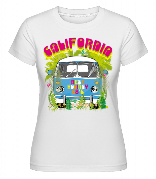 California Bus - Shirtinator Women's T-Shirt - White - Vorn
