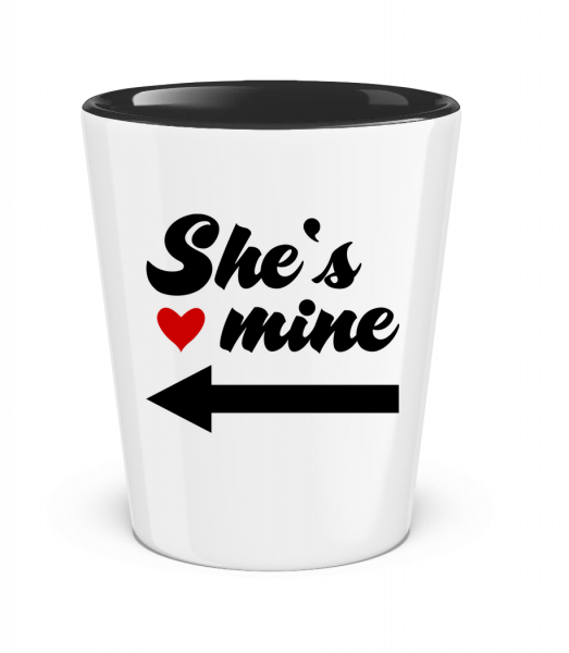 She Is Mine - Two-Toned Shot Glass - White - Vorn