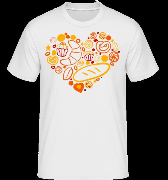 Breakfast Heart - Shirtinator Men's T-Shirt - White - Vorn