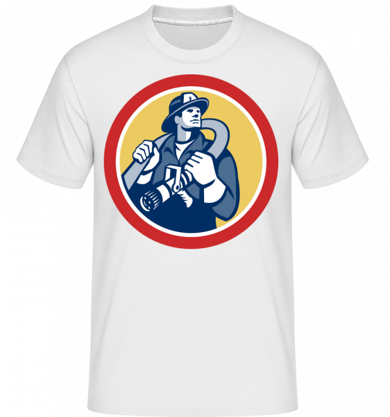 Firefighter Sign -  Shirtinator Men's T-Shirt - White - Vorn
