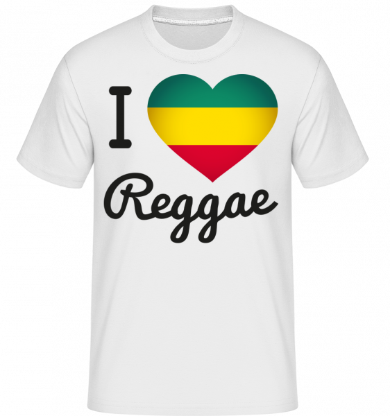 I Love Reggae - Shirtinator Men's T-Shirt - White - Vorn