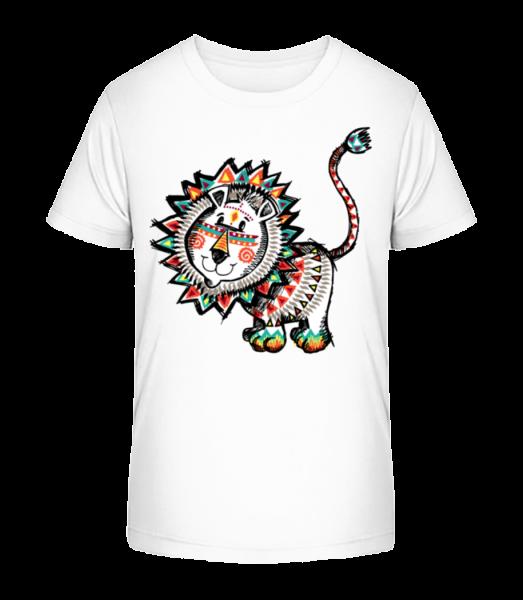Indian Lion - Kid's Premium Bio T-Shirt - White - Vorn