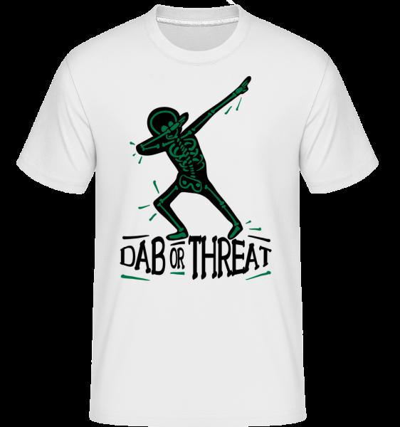 Dab or Threat - Shirtinator Men's T-Shirt - White - Vorn