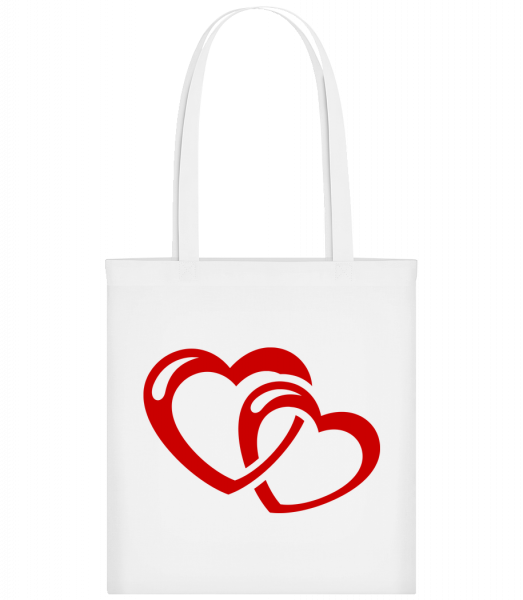 Hearts Icon Red - Carrier Bag - White - Vorn