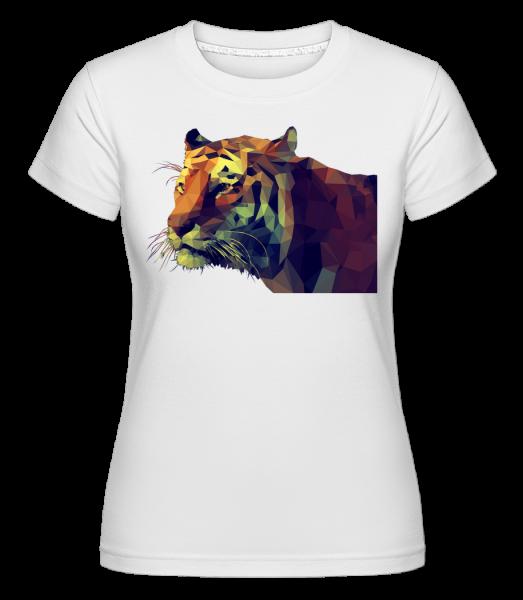 Polygone Tiger - Shirtinator Women's T-Shirt - White - Vorn