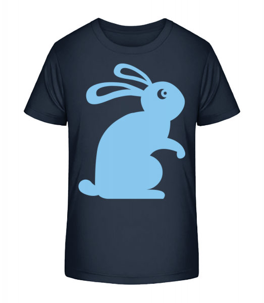 Easter Bunny Icon - Kid's Premium Bio T-Shirt - Navy - Vorn