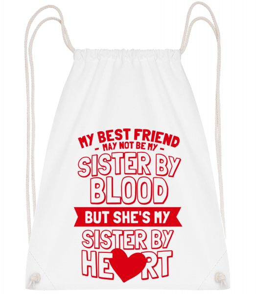 My Sister By Heart - Drawstring Backpack - White - Vorn