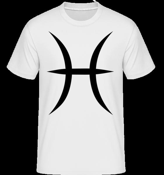 Pisces Sign - Shirtinator Men's T-Shirt - White - Vorn