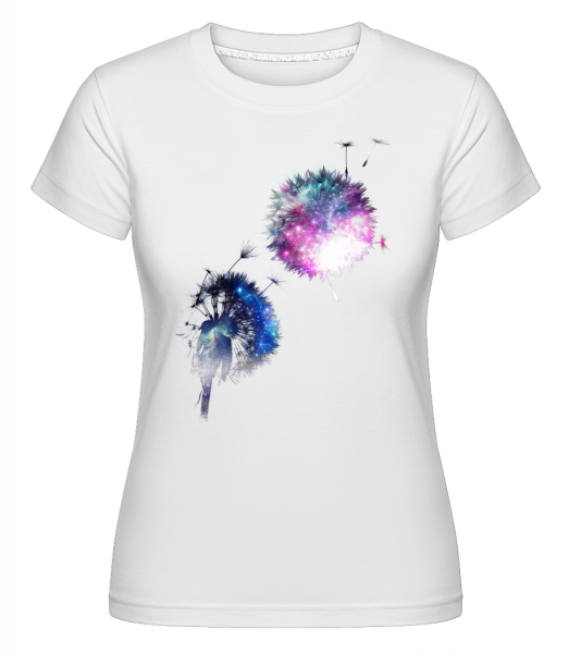 Universe Flowers -  Shirtinator Women's T-Shirt - White - Vorn