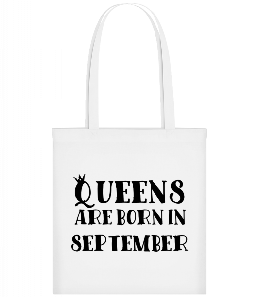 Queens Are Born In September - Carrier Bag - White - Vorn