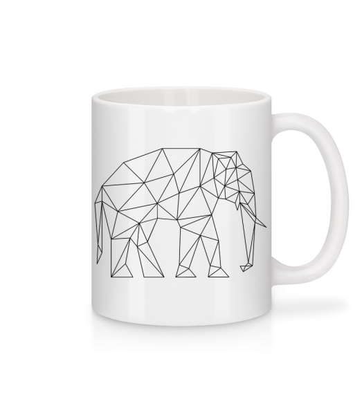 Polygon Elephant - Mug - White - Vorn