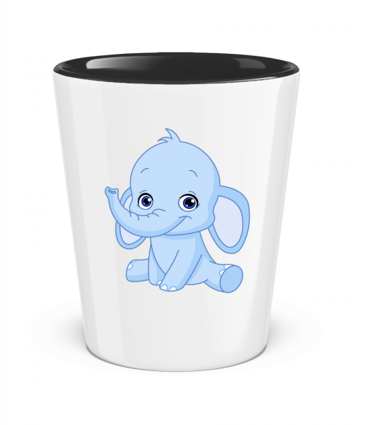 Elephant Comic - Two-Toned Shot Glass - White - Vorn