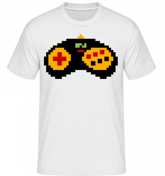Consoles Controller Oldschool -  Shirtinator Men's T-Shirt - White - Vorn