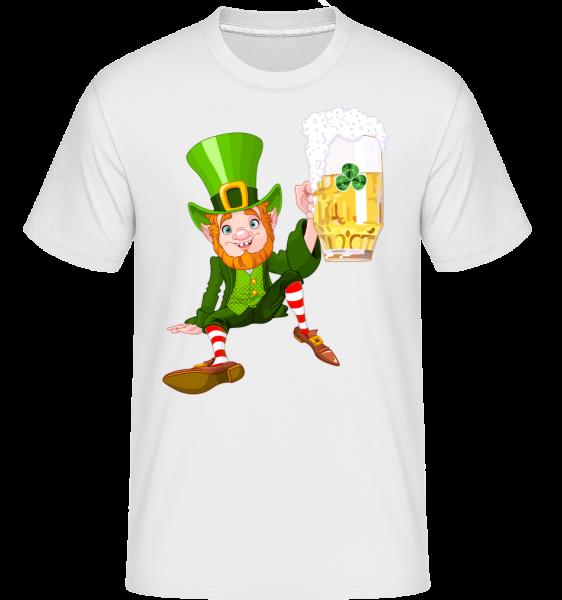 Irish Beer Logo - Shirtinator Men's T-Shirt - White - Vorn