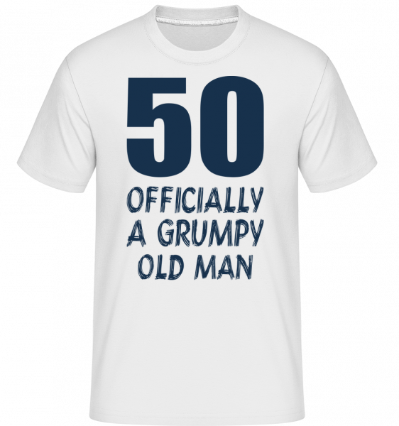 Officially Grumpy Old Man 50 - Shirtinator Men's T-Shirt - White - Vorn