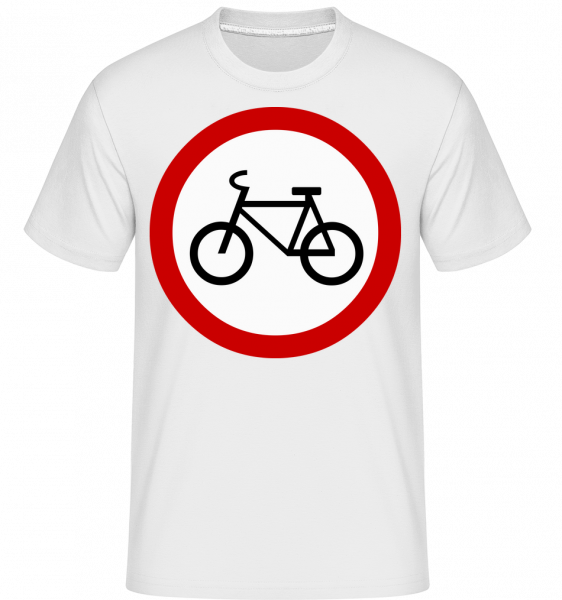 Attention Cyclists Sign -  Shirtinator Men's T-Shirt - White - Vorn