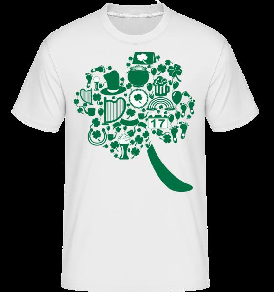 Ireland Symbols - Shirtinator Men's T-Shirt - White - Vorn