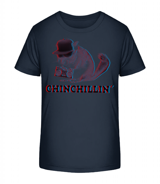 ChinChillin' - Kid's Premium Bio T-Shirt - Navy - Vorn