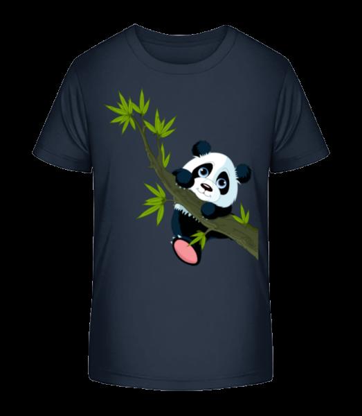 Panda On A Branch - Kid's Premium Bio T-Shirt - Navy - Vorn