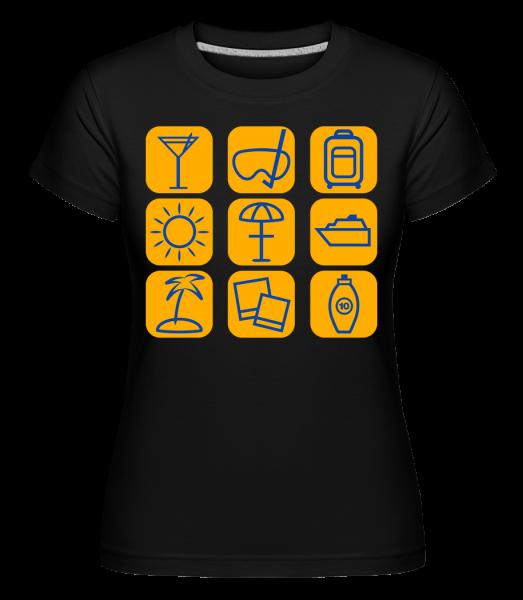 Summer Holidays - Shirtinator Women's T-Shirt - Black - Vorn