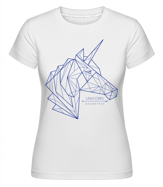 Geometrie Einhorn -  Shirtinator Women's T-Shirt - White - Vorn