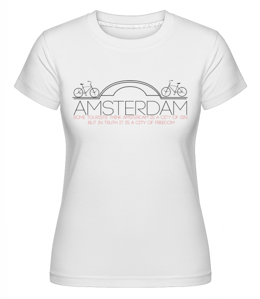 Amsterdam Netherlands -  Shirtinator Women's T-Shirt - White - Vorn