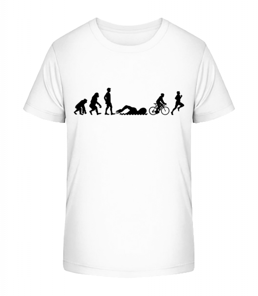 Evolution Of Triatlon - Kid's Premium Bio T-Shirt - White - Vorn
